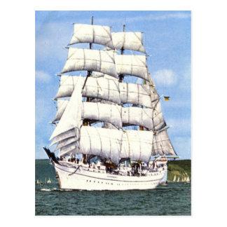 Lang schip, vierkante rigger, briefkaart