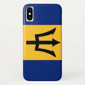 Lange het symbool van de het landvlag van Barbados iPhone X Hoesje