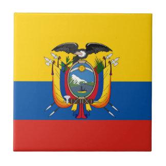 Lange het symbool van de het landvlag van Ecuador Keramisch Tegeltje