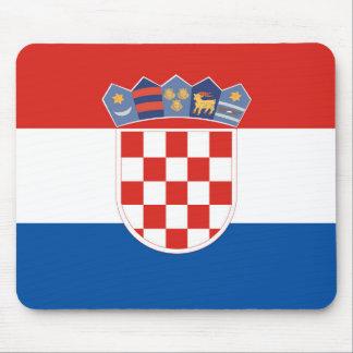 Lange het symbool van de het landvlag van Kroatië Muismat