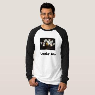 Lange Raglan van het Canvas van het mannen T-shirt