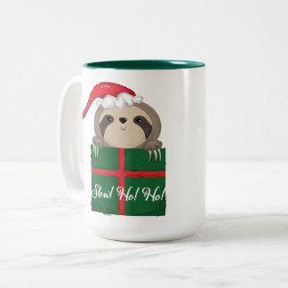 Langzaam! Ho! Ho! Luiaard Tweekleurige Koffiemok