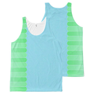 Langzaam verdwenen Damast 6 All-Over-Print Tank Top