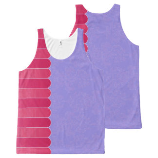 Langzaam verdwenen Damast 8 All-Over-Print Tank Top