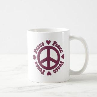 Langzaam verdwenen Rode Vrede en Liefde Koffiemok