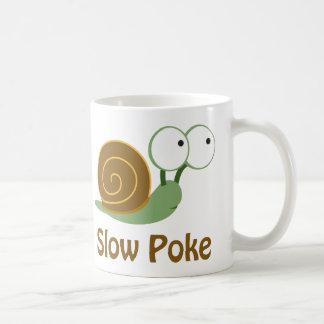 Langzame Por - Groene en Bruine Slak Koffiemok