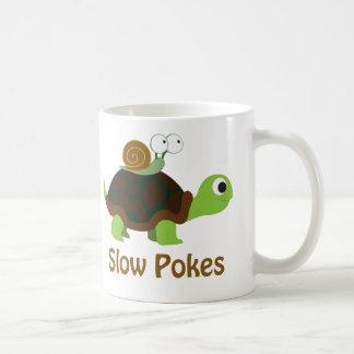 Langzame Porren - Schildpad en Slak Koffiemok