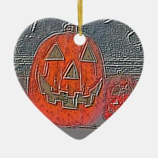 Lantaarn hefboom-o keramisch hart ornament