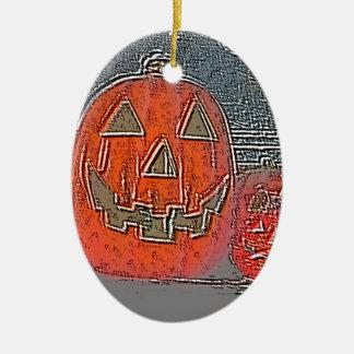 Lantaarn hefboom-o keramisch ovaal ornament