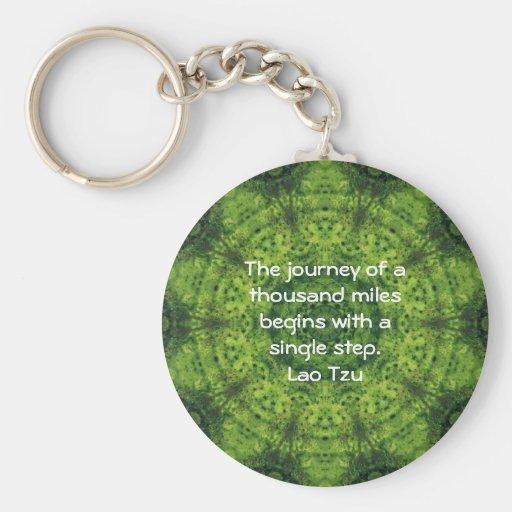 Lao Spreuk van het Citaat van de Wijsheid Tzu Moti Sleutel Hangers