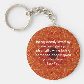 Lao Spreuk van het Citaat van de Wijsheid Tzu Sleutelhanger