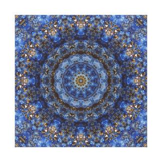 """Lapis lazuli Gelamineerde"" Mandala Stretched Canvas Afdruk"