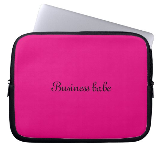 "Laptop sleeve ""Business babe"""