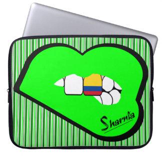 Laptop van Colombia van de Lippen van Sharnia Computer Sleeve