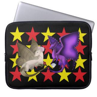 Laptop van de Draken van de Vlinder van sterren Computer Sleeve