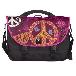 Laptop van de Hippie van de Vrede & van de Liefde  Laptop Computer Tassen