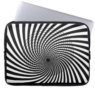 Laptop van de Kunst van de OPTISCHE ILLUSIE Retro  Computer Sleeve
