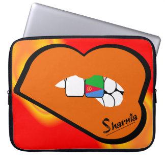 Laptop van Eritrea van de Lippen van Sharnia Computer Sleeve