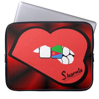 Laptop van Eritrea van de Lippen van Sharnia Laptop Sleeve