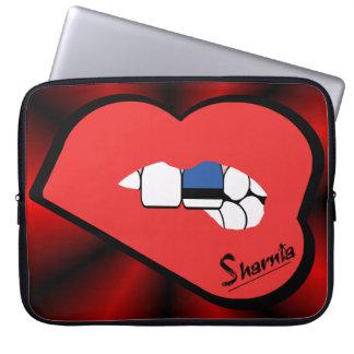 Laptop van Estland van de Lippen van Sharnia Laptop Sleeve