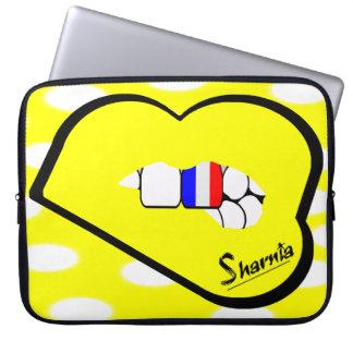 Laptop van Frankrijk van de Lippen van Sharnia Computer Sleeve