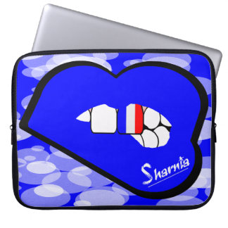Laptop van Frankrijk van de Lippen van Sharnia Laptop Sleeve