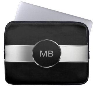 Laptop van het Monogram van het mannen Hoesje Laptop Sleeve