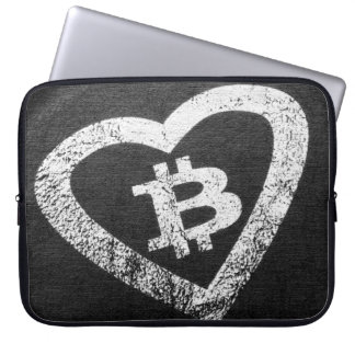 Laptop van het Neopreen van het Hart van Bitcoin Laptop Sleeve