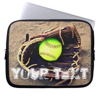 Laptop van het Softball van Fastpitch van de Tekst Computer Sleeve