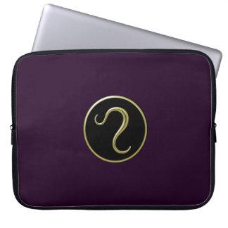 Laptop van het Symbool van de Leeuw Astrologisch S Laptop Sleeve