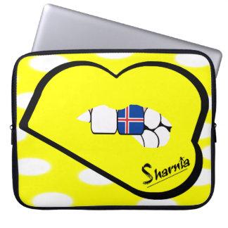 Laptop van IJsland van de Lippen van Sharnia Computer Sleeve