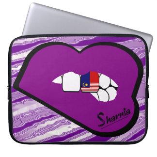 Laptop van Maleisië van de Lippen van Sharnia de Laptop Sleeve