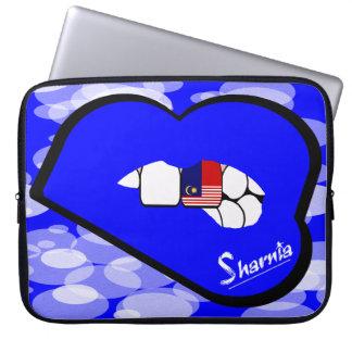 Laptop van Maleisië van de Lippen van Sharnia Laptop Sleeve