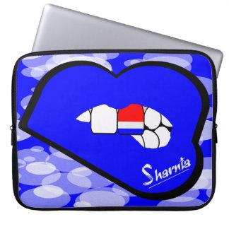 Laptop van Nederland van de Lippen van Sharnia Laptop Sleeve