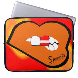 Laptop van Oostenrijk van de Lippen van Sharnia Laptop Sleeve