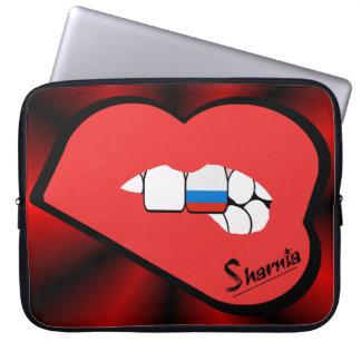 Laptop van Rusland van de Lippen van Sharnia Computer Sleeve