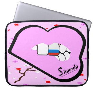 Laptop van Rusland van de Lippen van Sharnia Laptop Sleeve
