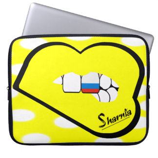 Laptop van Rusland van de Lippen van Sharnia Laptop Sleeve
