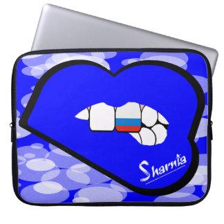 Laptop van Rusland van de Lippen van Sharnia Laptop Sleeve Hoesje