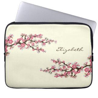 Laptop van Sakura van de Bloesems van de kers (roz Computer Sleeves