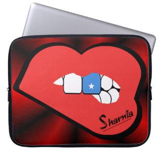 Laptop van Somalië van de Lippen van Sharnia Computer Sleeve