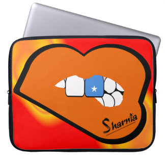 Laptop van Somalië van de Lippen van Sharnia Laptop Sleeve