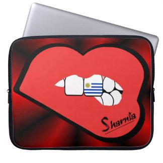Laptop van Uruguay van de Lippen van Sharnia Computer Sleeve