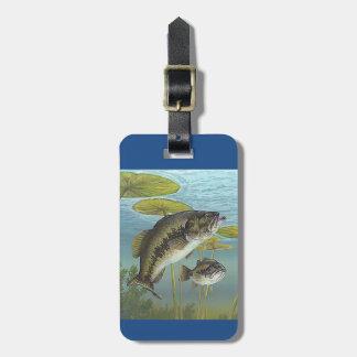 Largemouth Bass Bagagelabel