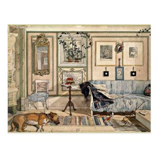 Larsson - Comfortabele Hoek, 1894, kunstwerk Briefkaart