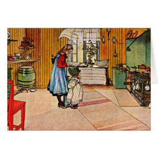 Larsson: Keuken, 1898 Notitiekaart