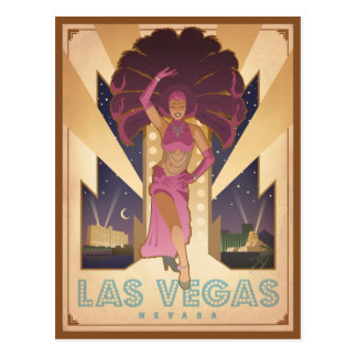 Las Vegas, Nevada | Showgirl Briefkaart