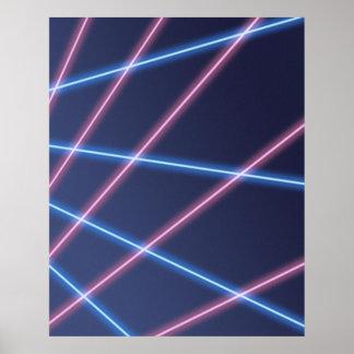 Laser-straal de Achtergrond van het Portret van de Poster
