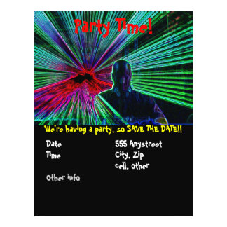 Lasers op de partijvlieger van DJ Persoonlijke Folder