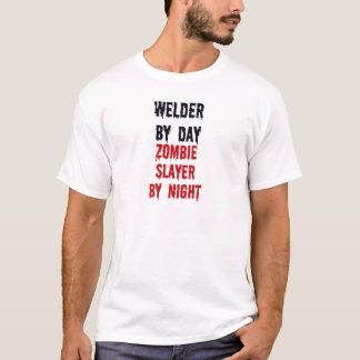 Lasser door 's nachts de Moordenaar van de Zombie T Shirt